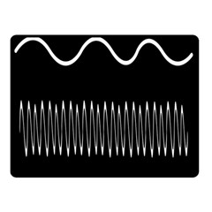 Style Line Amount Wave Chevron Double Sided Fleece Blanket (small)  by Mariart