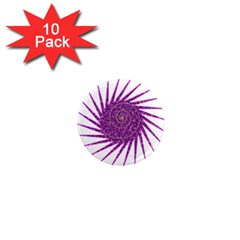 Spiral Purple Star Polka 1  Mini Magnet (10 Pack)  by Mariart