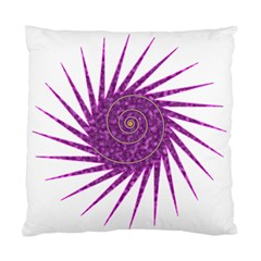 Spiral Purple Star Polka Standard Cushion Case (one Side) by Mariart