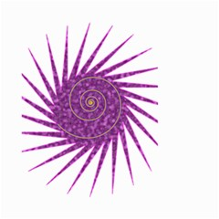 Spiral Purple Star Polka Small Garden Flag (two Sides) by Mariart