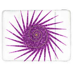 Spiral Purple Star Polka Samsung Galaxy Tab 7  P1000 Flip Case by Mariart