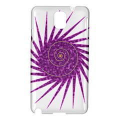 Spiral Purple Star Polka Samsung Galaxy Note 3 N9005 Hardshell Case by Mariart