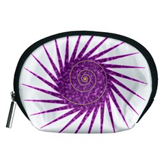 Spiral Purple Star Polka Accessory Pouches (medium)  by Mariart
