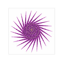 Spiral Purple Star Polka Small Satin Scarf (square) by Mariart
