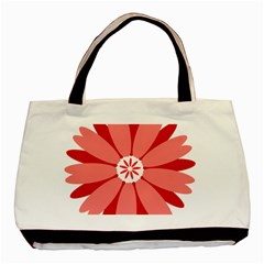 Sunflower Flower Floral Red Basic Tote Bag (two Sides) by Mariart