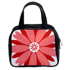 Sunflower Flower Floral Red Classic Handbags (2 Sides) by Mariart