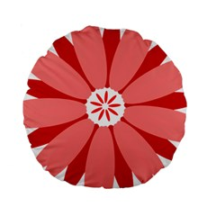 Sunflower Flower Floral Red Standard 15  Premium Round Cushions by Mariart