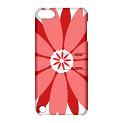 Sunflower Flower Floral Red Apple Ipod Touch 5 Hardshell Case With Stand by Mariart