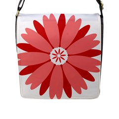 Sunflower Flower Floral Red Flap Messenger Bag (l)  by Mariart