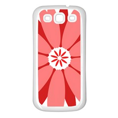 Sunflower Flower Floral Red Samsung Galaxy S3 Back Case (white) by Mariart
