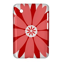 Sunflower Flower Floral Red Samsung Galaxy Tab 2 (7 ) P3100 Hardshell Case  by Mariart
