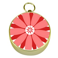 Sunflower Flower Floral Red Gold Compasses