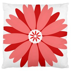 Sunflower Flower Floral Red Large Flano Cushion Case (two Sides)