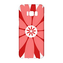Sunflower Flower Floral Red Samsung Galaxy S8 Hardshell Case  by Mariart
