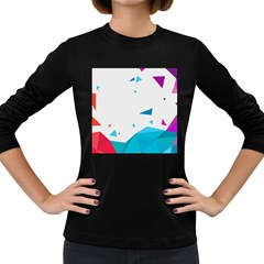 Triangle Chevron Colorfull Women s Long Sleeve Dark T-shirts