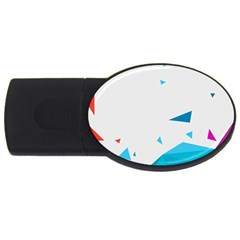 Triangle Chevron Colorfull Usb Flash Drive Oval (4 Gb) by Mariart