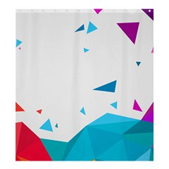 Triangle Chevron Colorfull Shower Curtain 66  X 72  (large)  by Mariart