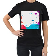 Triangle Chevron Colorfull Women s T-shirt (black) by Mariart