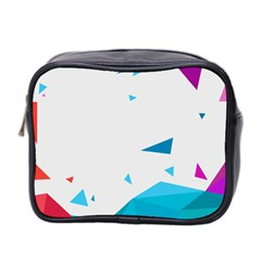 Triangle Chevron Colorfull Mini Toiletries Bag 2 Side by Mariart