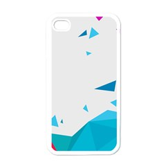 Triangle Chevron Colorfull Apple Iphone 4 Case (white) by Mariart
