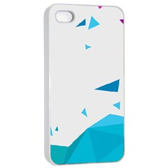 Triangle Chevron Colorfull Apple Iphone 4/4s Seamless Case (white) by Mariart