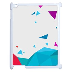 Triangle Chevron Colorfull Apple Ipad 2 Case (white) by Mariart