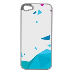 Triangle Chevron Colorfull Apple Iphone 5 Case (silver) by Mariart