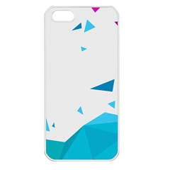 Triangle Chevron Colorfull Apple Iphone 5 Seamless Case (white) by Mariart