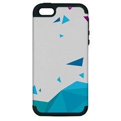 Triangle Chevron Colorfull Apple Iphone 5 Hardshell Case (pc+silicone) by Mariart