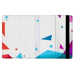 Triangle Chevron Colorfull Apple Ipad 2 Flip Case by Mariart
