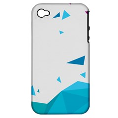 Triangle Chevron Colorfull Apple Iphone 4/4s Hardshell Case (pc+silicone) by Mariart