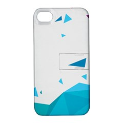 Triangle Chevron Colorfull Apple Iphone 4/4s Hardshell Case With Stand by Mariart