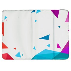 Triangle Chevron Colorfull Samsung Galaxy Tab 7  P1000 Flip Case by Mariart