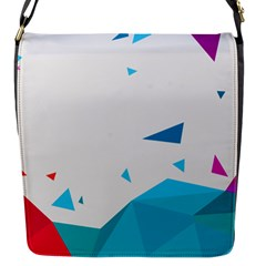 Triangle Chevron Colorfull Flap Messenger Bag (s) by Mariart