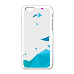 Triangle Chevron Colorfull Apple Iphone 6/6s White Enamel Case by Mariart