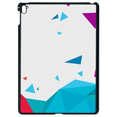 Triangle Chevron Colorfull Apple Ipad Pro 9 7   Black Seamless Case by Mariart