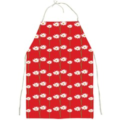 Sunflower Red Star Beauty Flower Floral Full Print Aprons by Mariart