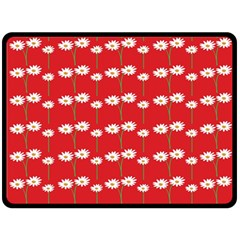 Sunflower Red Star Beauty Flower Floral Fleece Blanket (large)  by Mariart