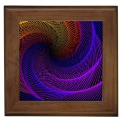 Striped Abstract Wave Background Structural Colorful Texture Line Light Wave Waves Chevron Framed Tiles by Mariart