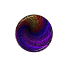 Striped Abstract Wave Background Structural Colorful Texture Line Light Wave Waves Chevron Hat Clip Ball Marker (10 Pack) by Mariart