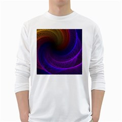 Striped Abstract Wave Background Structural Colorful Texture Line Light Wave Waves Chevron White Long Sleeve T Shirts