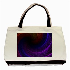 Striped Abstract Wave Background Structural Colorful Texture Line Light Wave Waves Chevron Basic Tote Bag by Mariart