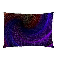 Striped Abstract Wave Background Structural Colorful Texture Line Light Wave Waves Chevron Pillow Case by Mariart