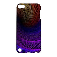 Striped Abstract Wave Background Structural Colorful Texture Line Light Wave Waves Chevron Apple Ipod Touch 5 Hardshell Case by Mariart
