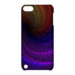 Striped Abstract Wave Background Structural Colorful Texture Line Light Wave Waves Chevron Apple Ipod Touch 5 Hardshell Case With Stand by Mariart