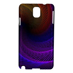 Striped Abstract Wave Background Structural Colorful Texture Line Light Wave Waves Chevron Samsung Galaxy Note 3 N9005 Hardshell Case by Mariart