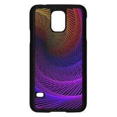 Striped Abstract Wave Background Structural Colorful Texture Line Light Wave Waves Chevron Samsung Galaxy S5 Case (black)