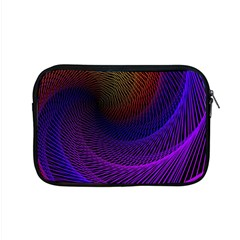 Striped Abstract Wave Background Structural Colorful Texture Line Light Wave Waves Chevron Apple Macbook Pro 15  Zipper Case by Mariart