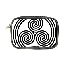 Triple Spiral Triskelion Black Coin Purse by Mariart
