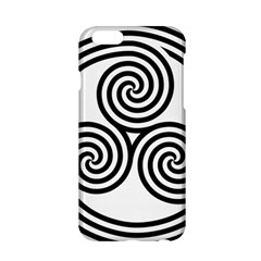 Triple Spiral Triskelion Black Apple Iphone 6/6s Hardshell Case by Mariart